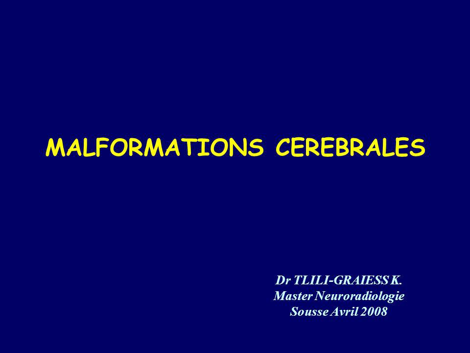 MALFORMATIONS CEREBRALES