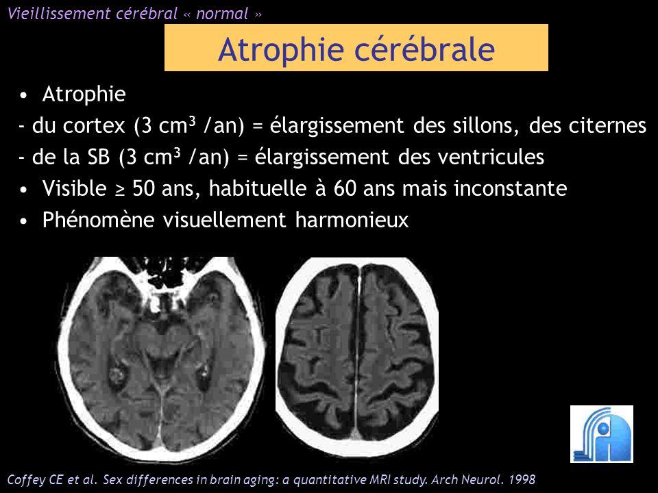 Atrophie cérébrale Atrophie