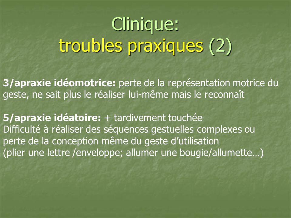 Clinique: troubles praxiques (2)