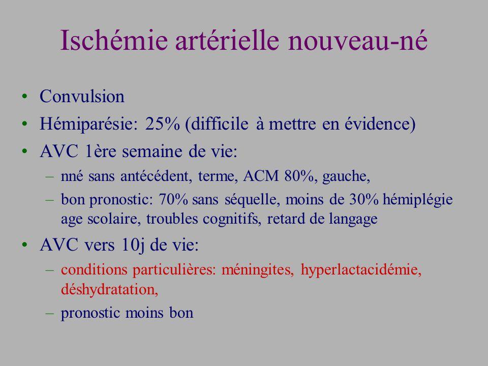 Ischémie artérielle nouveau-né