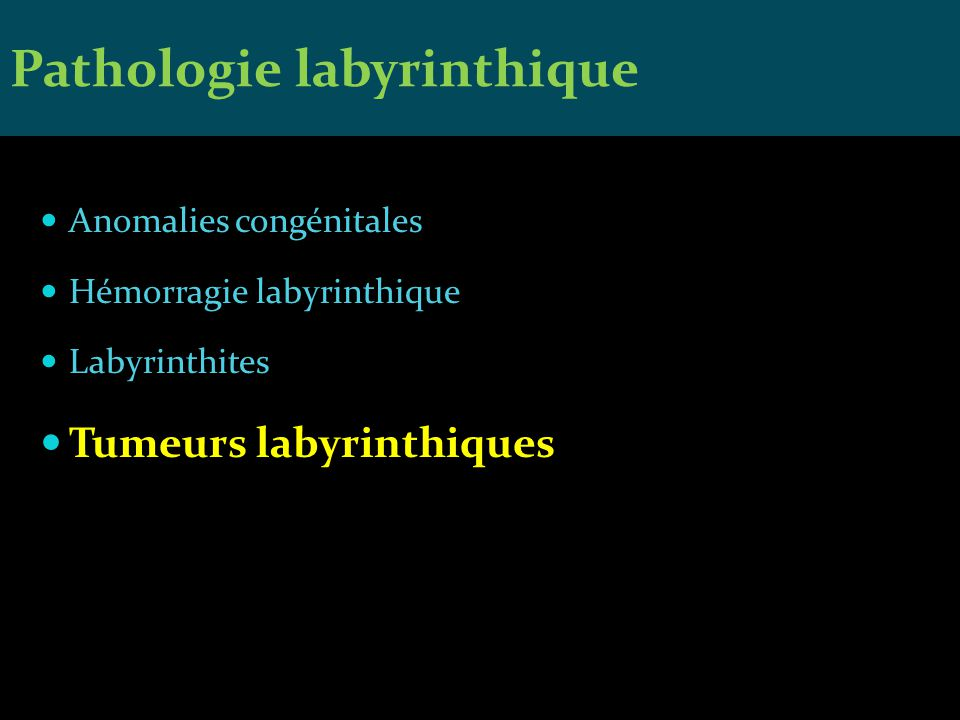 Pathologie labyrinthique