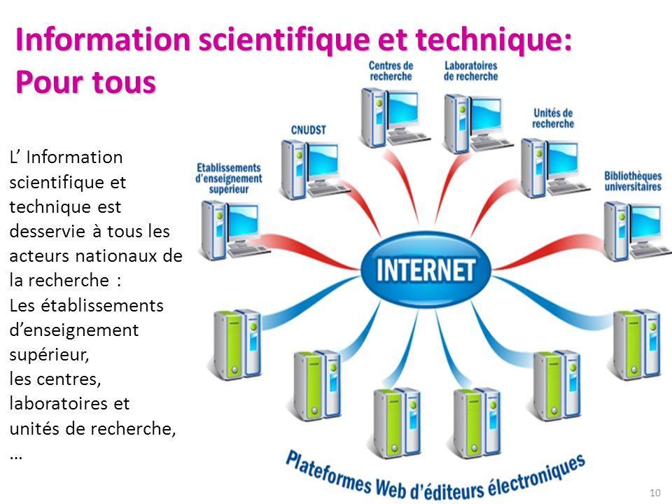 Information scientifique et technique: Pour tous