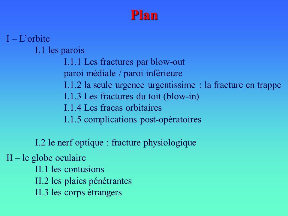 Plan I – L'orbite I.1 les parois I.1.1 Les fractures par blow-out