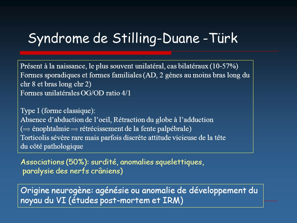 Syndrome de Stilling-Duane -Türk