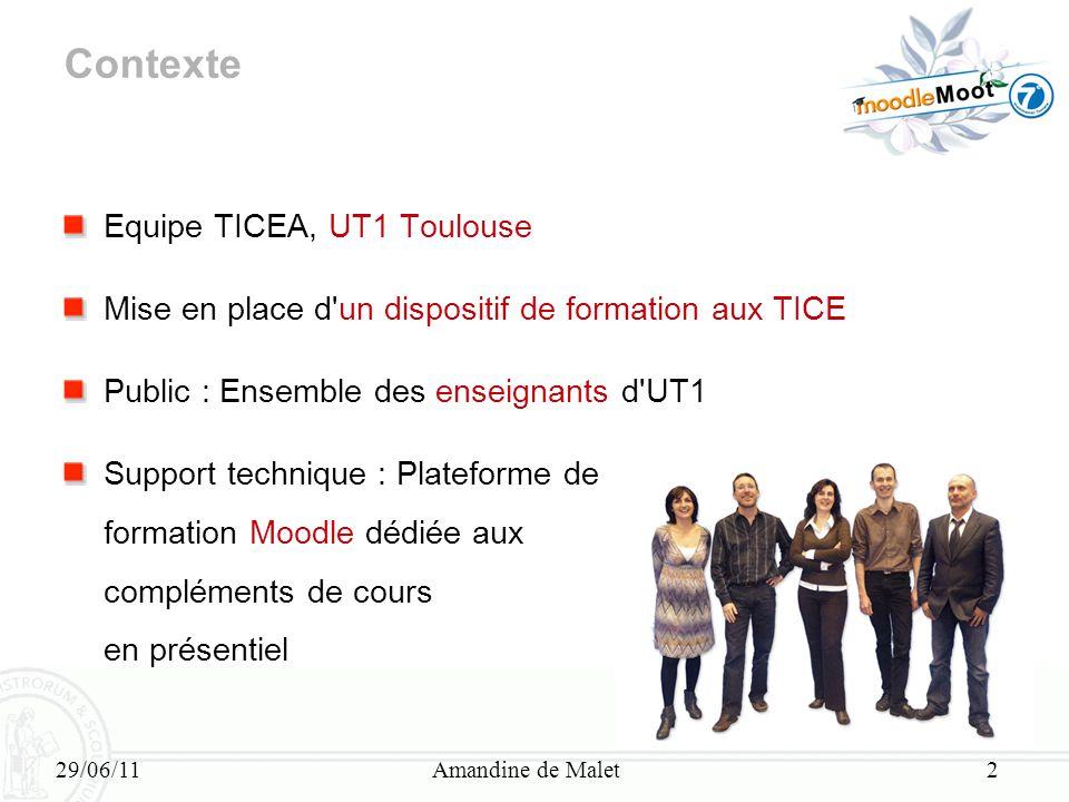 Contexte Equipe TICEA, UT1 Toulouse