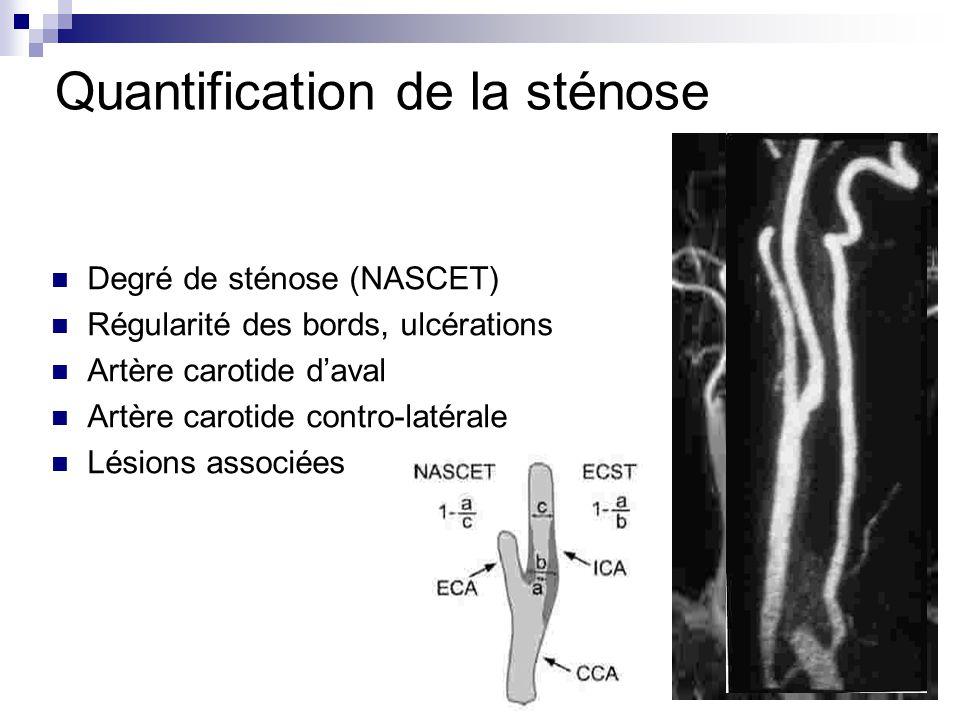 Quantification de la sténose