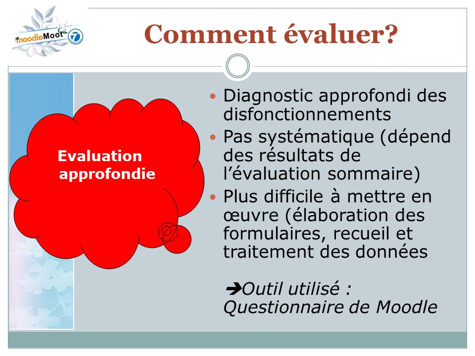Evaluation approfondie