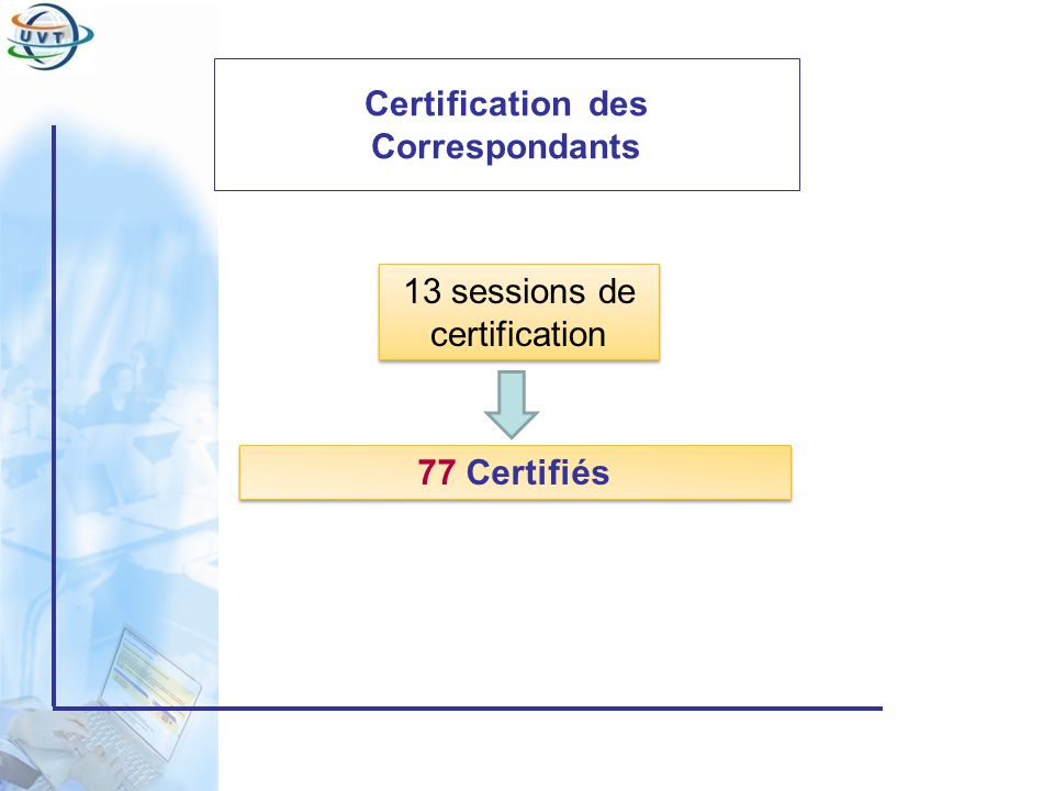 Certification des Correspondants