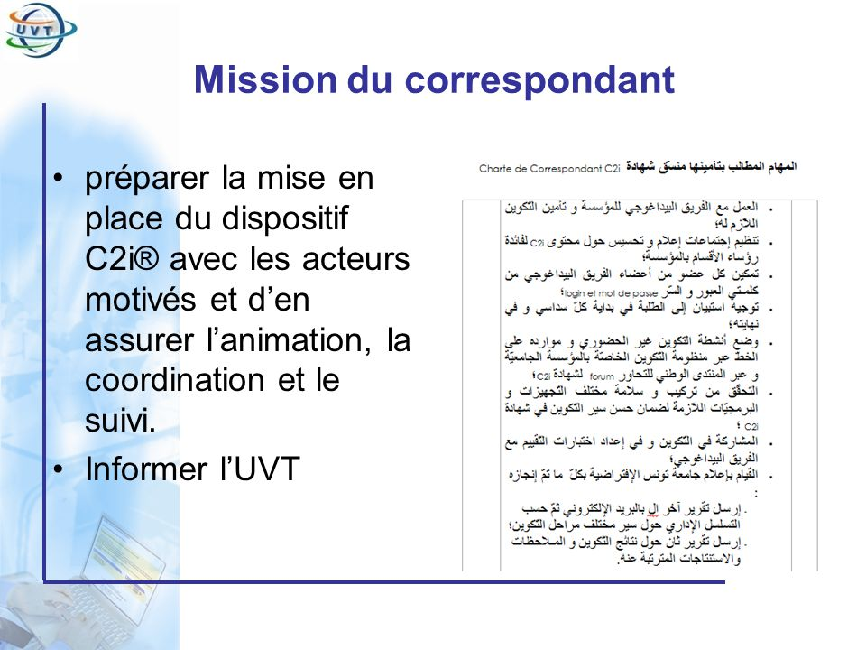 Mission du correspondant