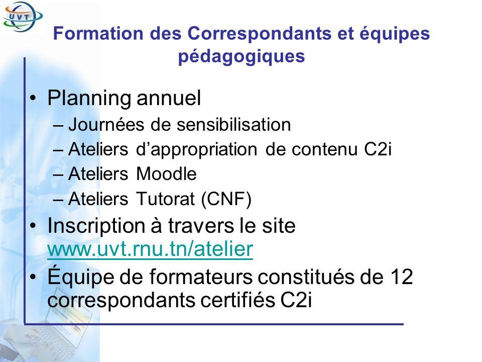 Formation des Correspondants et équipes pédagogiques