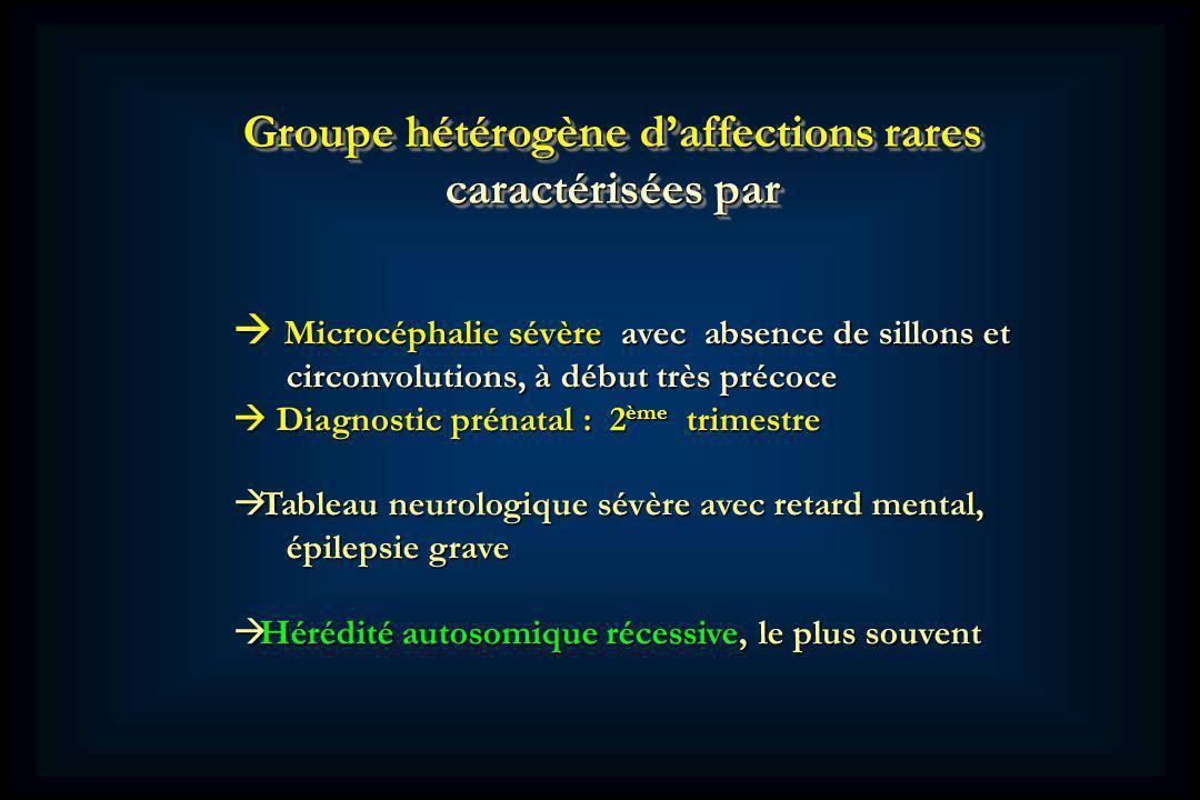 Groupe hétérogène d'affections rares