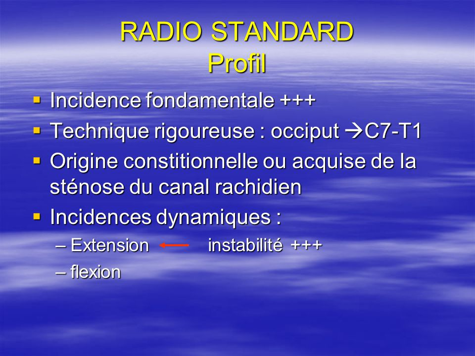 RADIO STANDARD Profil Incidence fondamentale +++
