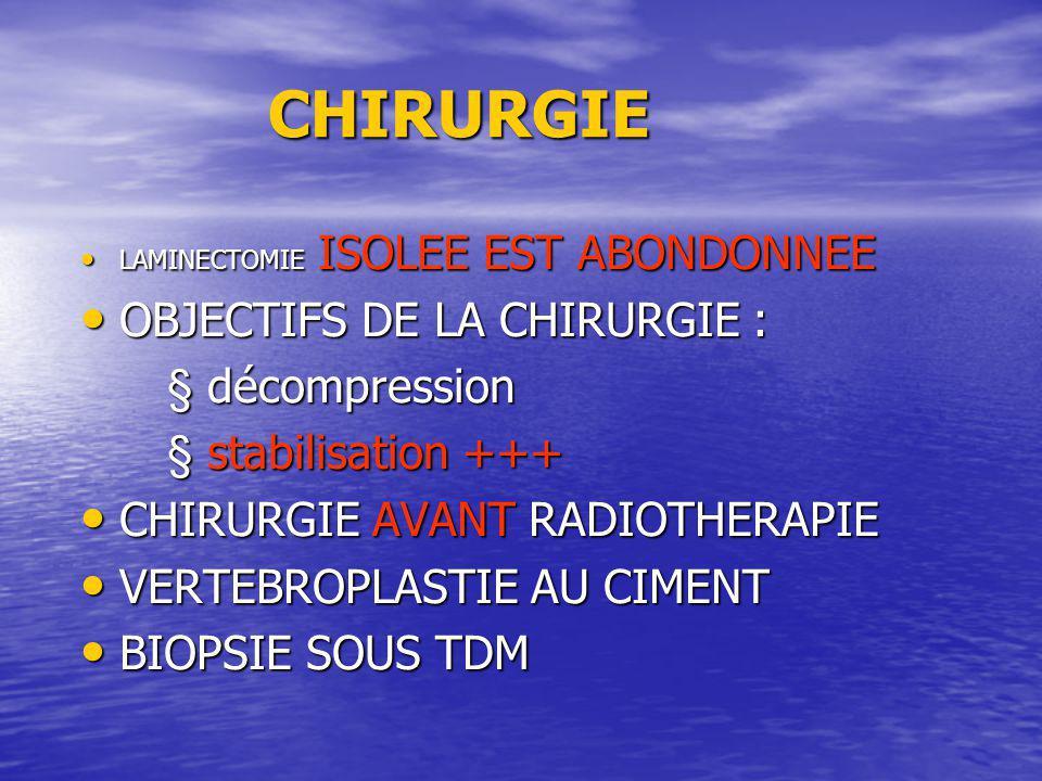 CHIRURGIE OBJECTIFS DE LA CHIRURGIE : § décompression