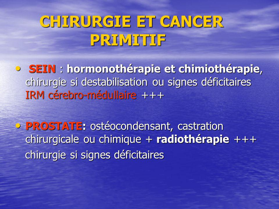 CHIRURGIE ET CANCER PRIMITIF