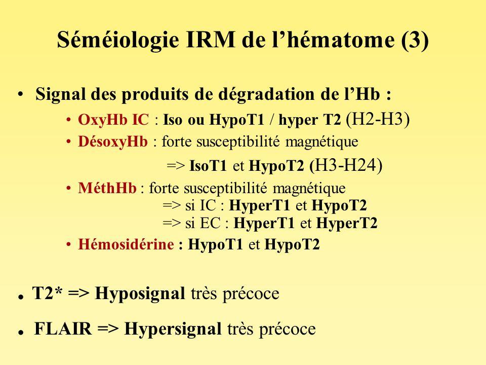 Séméiologie IRM de l'hématome (3)