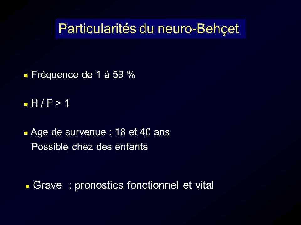 Particularités du neuro-Behçet