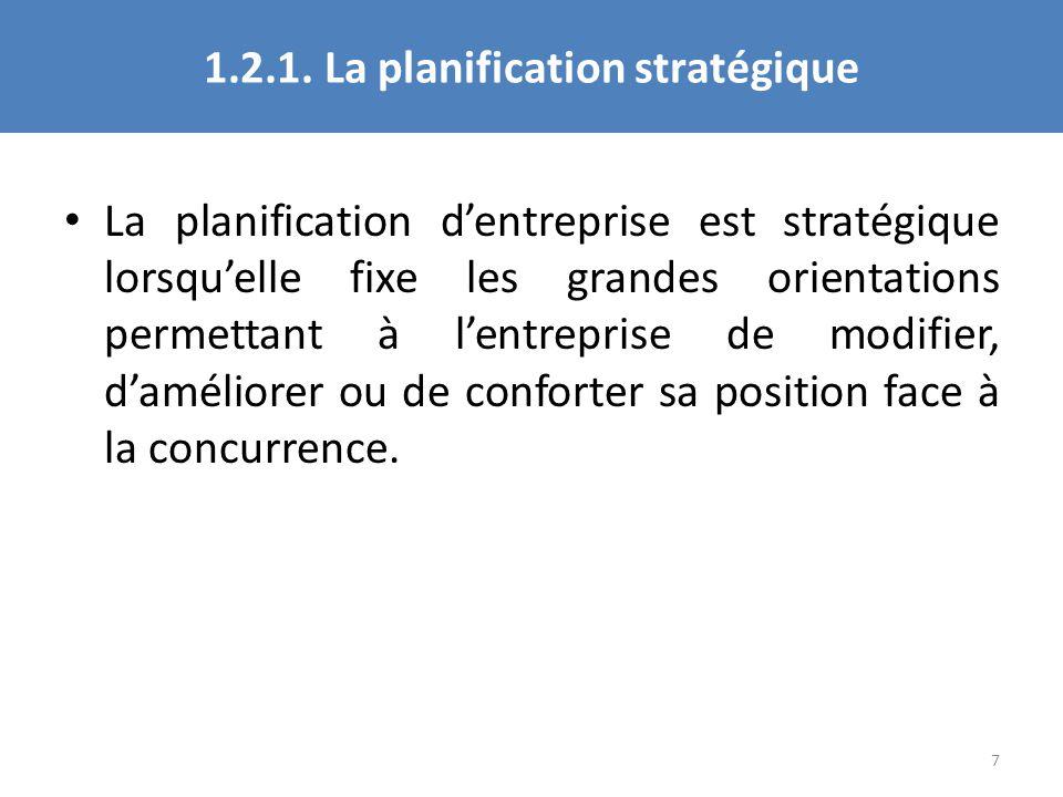 1.2.1. La planification stratégique