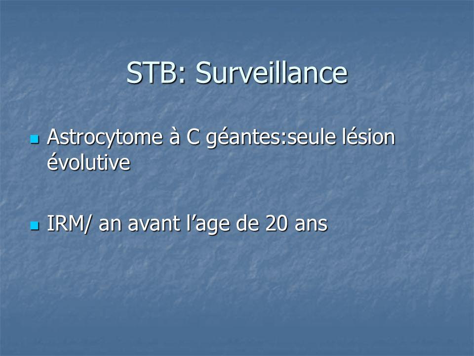 STB: Surveillance Astrocytome à C géantes:seule lésion évolutive