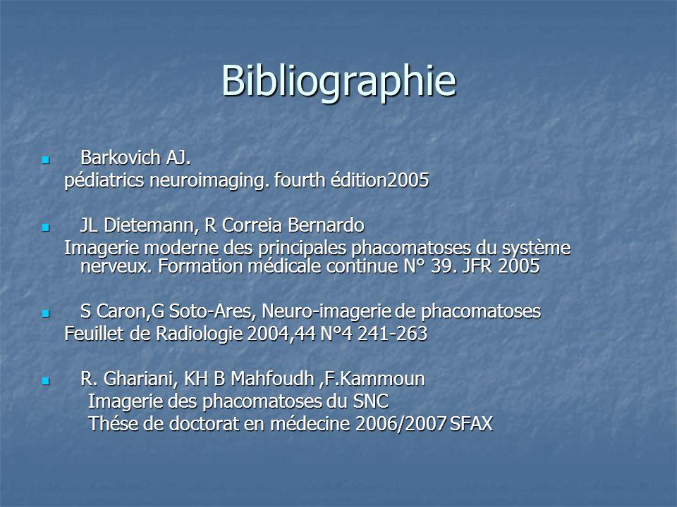 Bibliographie Barkovich AJ.