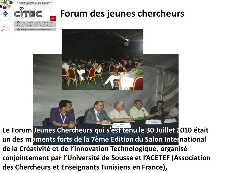 Forum des jeunes chercheurs