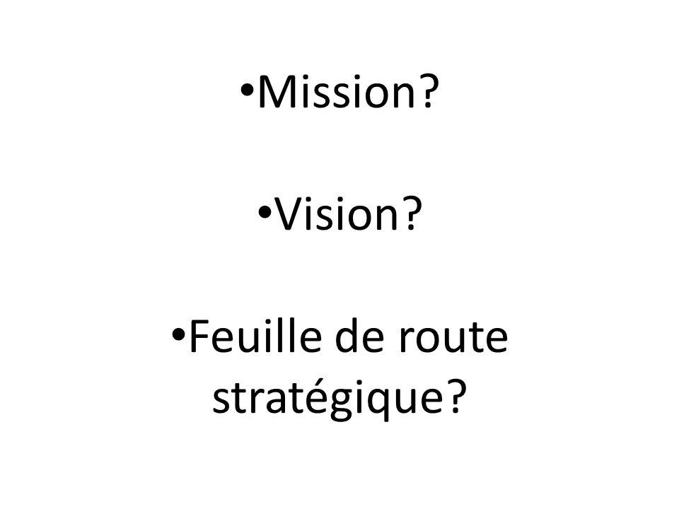 Feuille de route stratégique