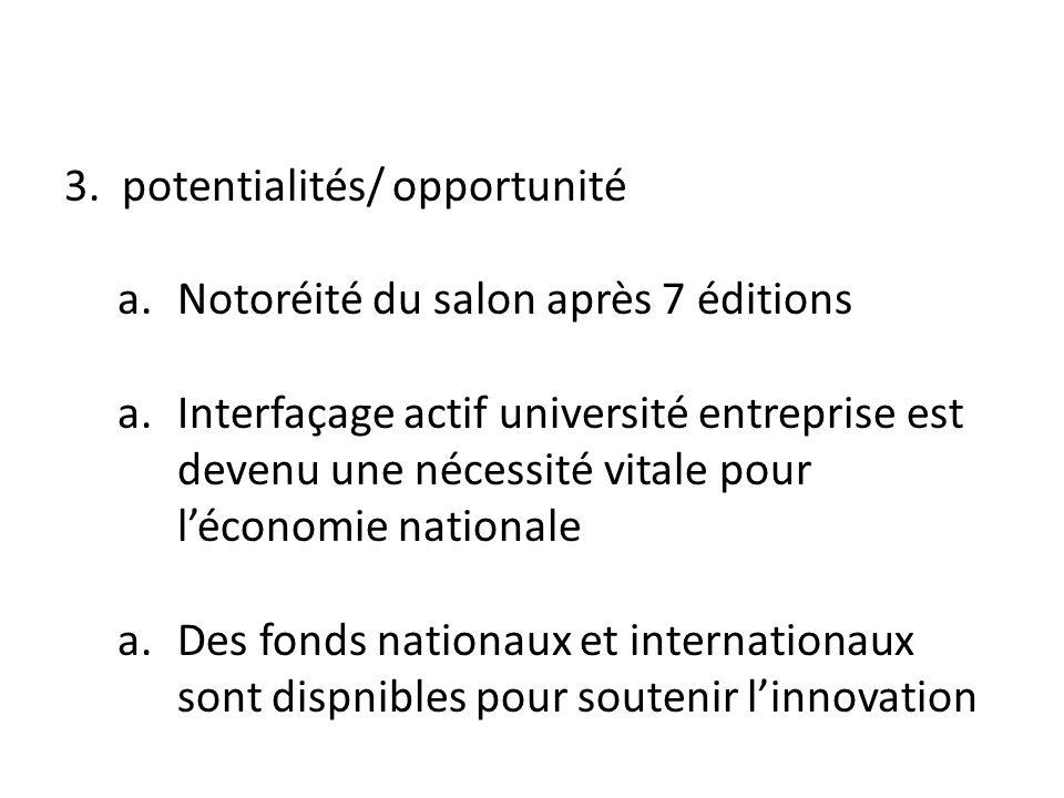 3. potentialités/ opportunité