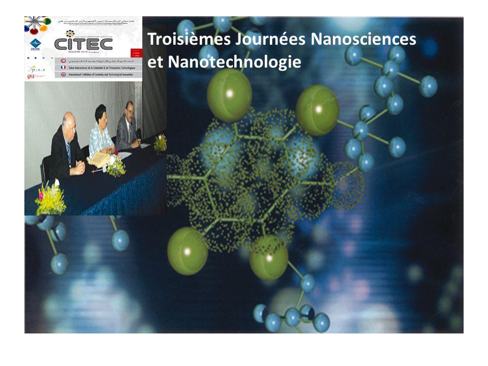 Troisièmes Journées Nanosciences et Nanotechnologie