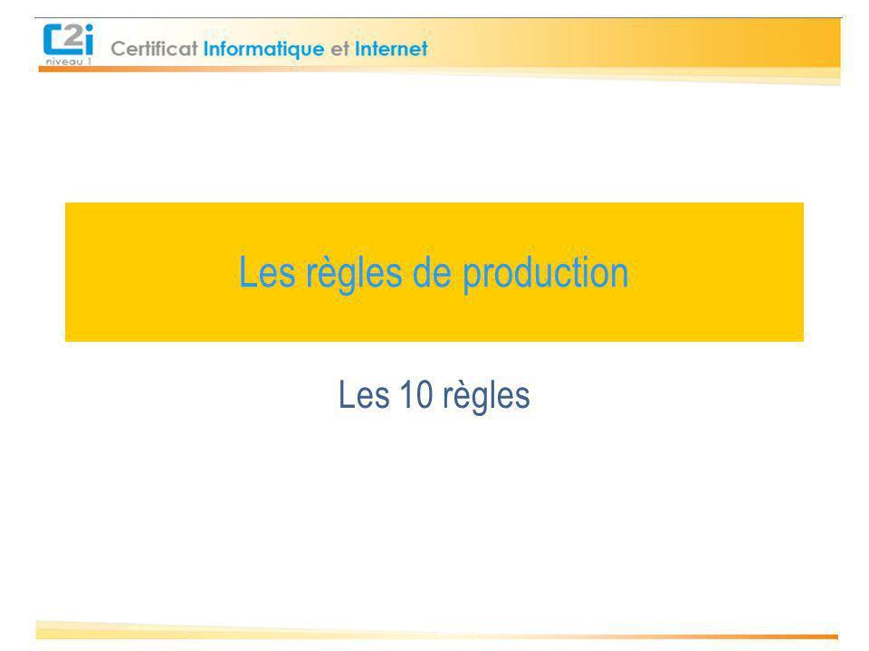 Les règles de production