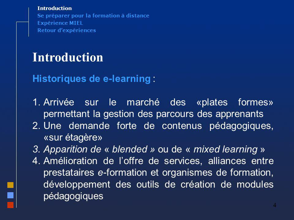 Introduction Historiques de e-learning :