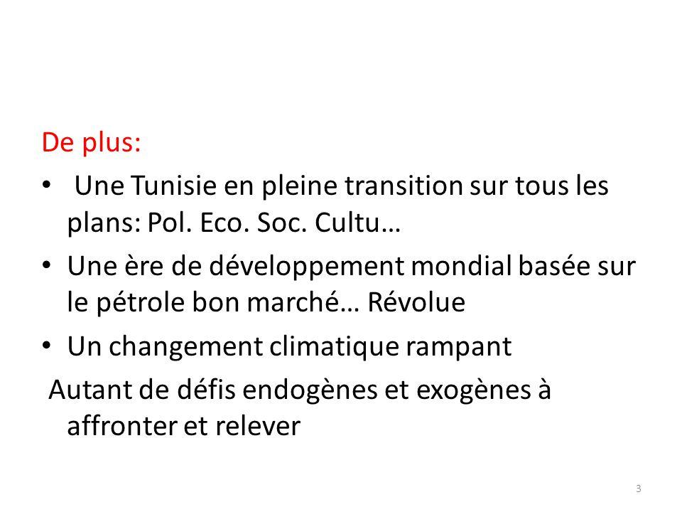 De plus: Une Tunisie en pleine transition sur tous les plans: Pol. Eco. Soc. Cultu…