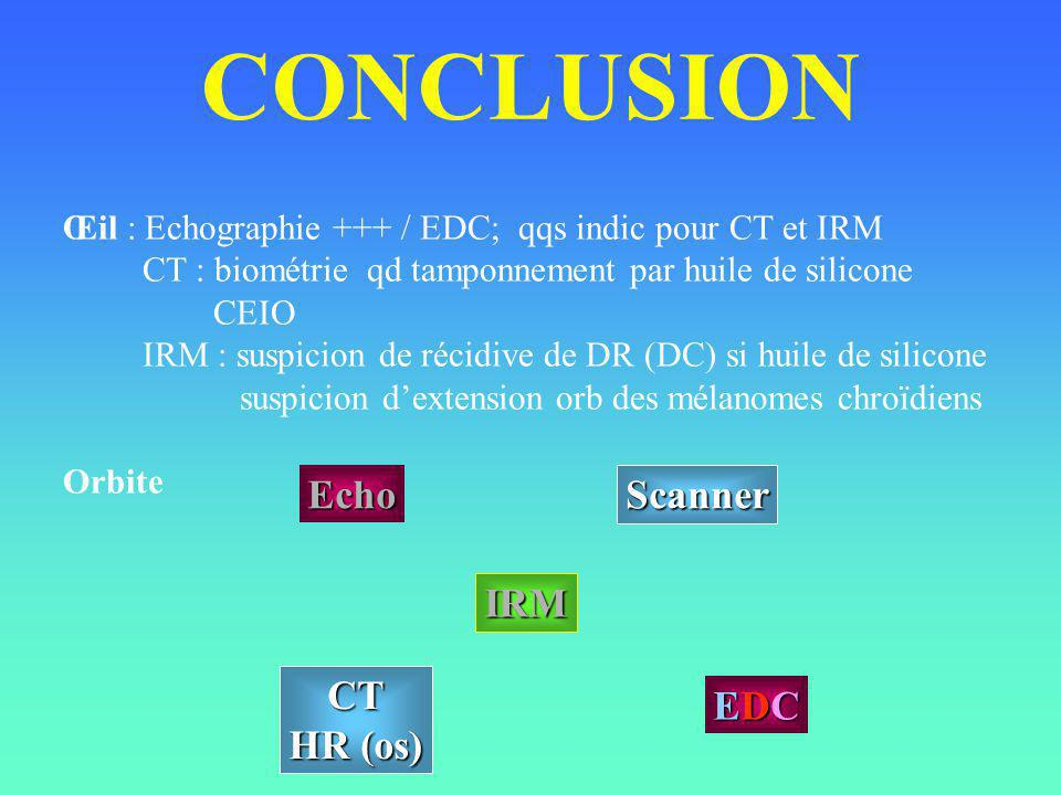 CONCLUSION Echo Scanner IRM CT HR (os) EDC