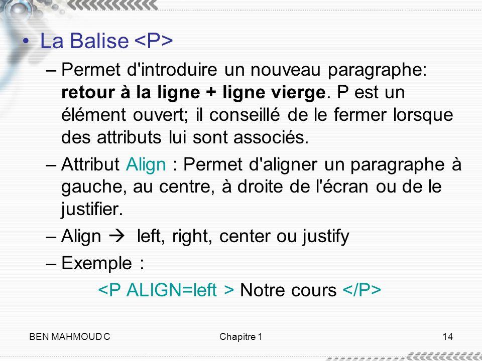 La Balise <P>