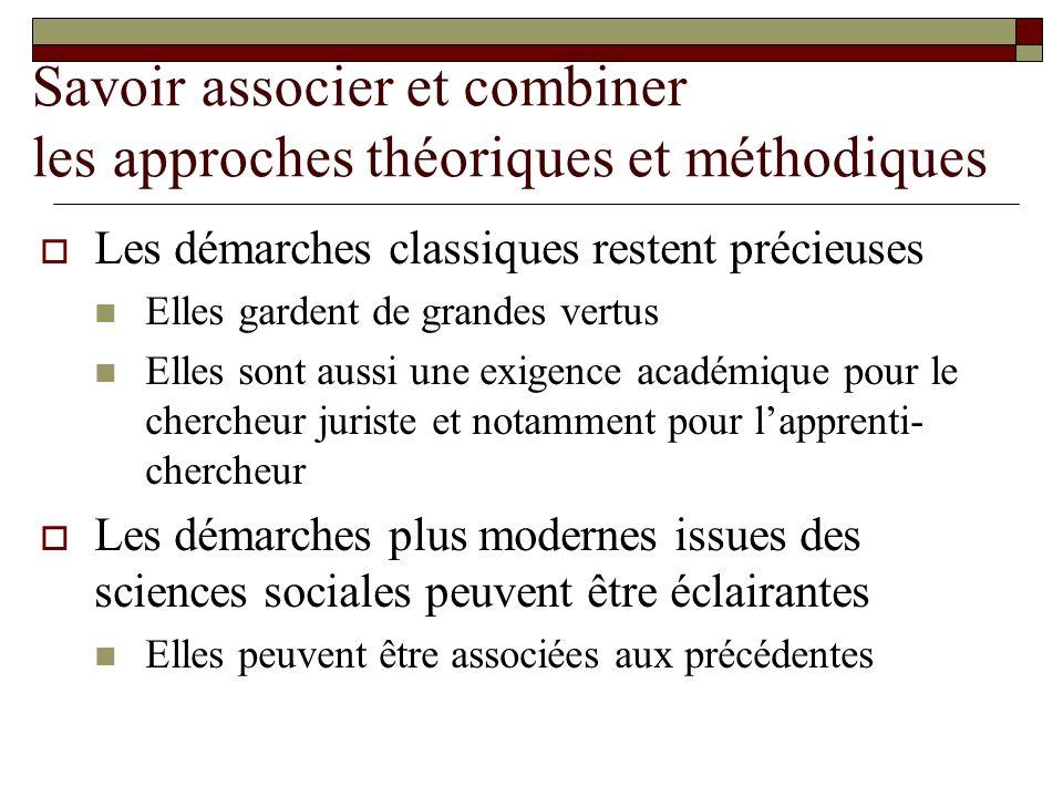 Savoir associer et combiner les approches théoriques et méthodiques