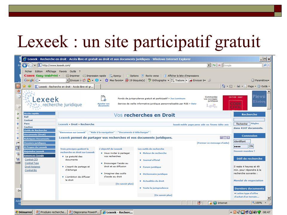 Lexeek : un site participatif gratuit