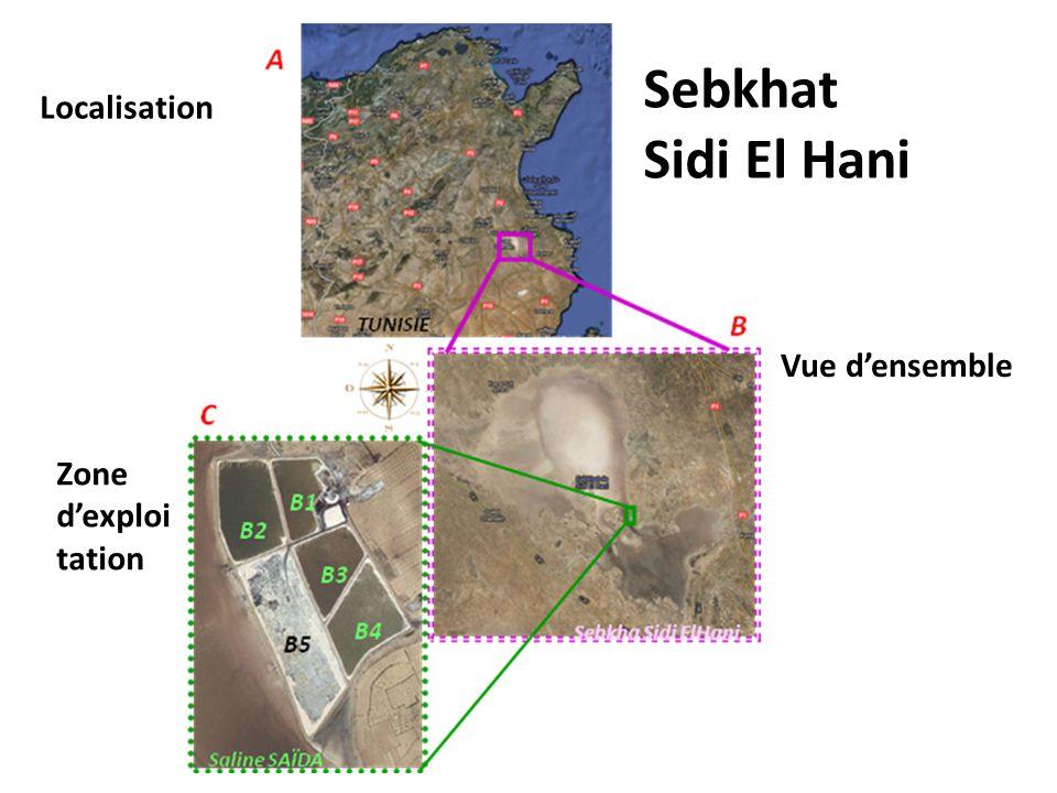 Sebkhat Sidi El Hani Localisation Vue d'ensemble Zone d'exploitation