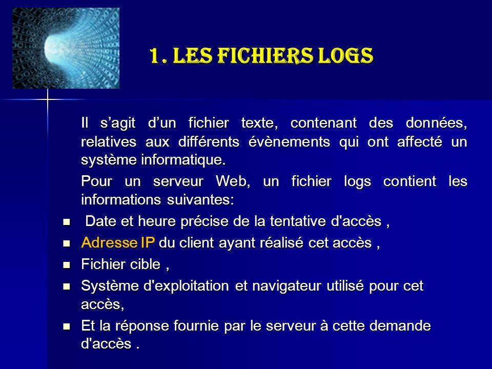 1. Les fichiers logs