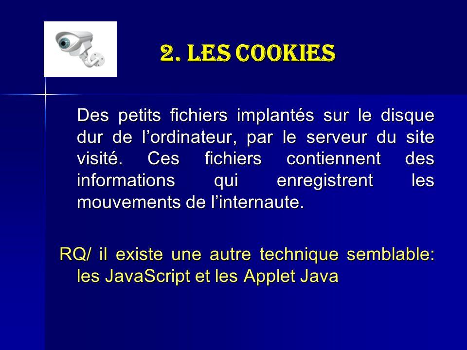 2. Les Cookies