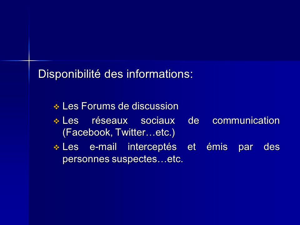 Disponibilité des informations: