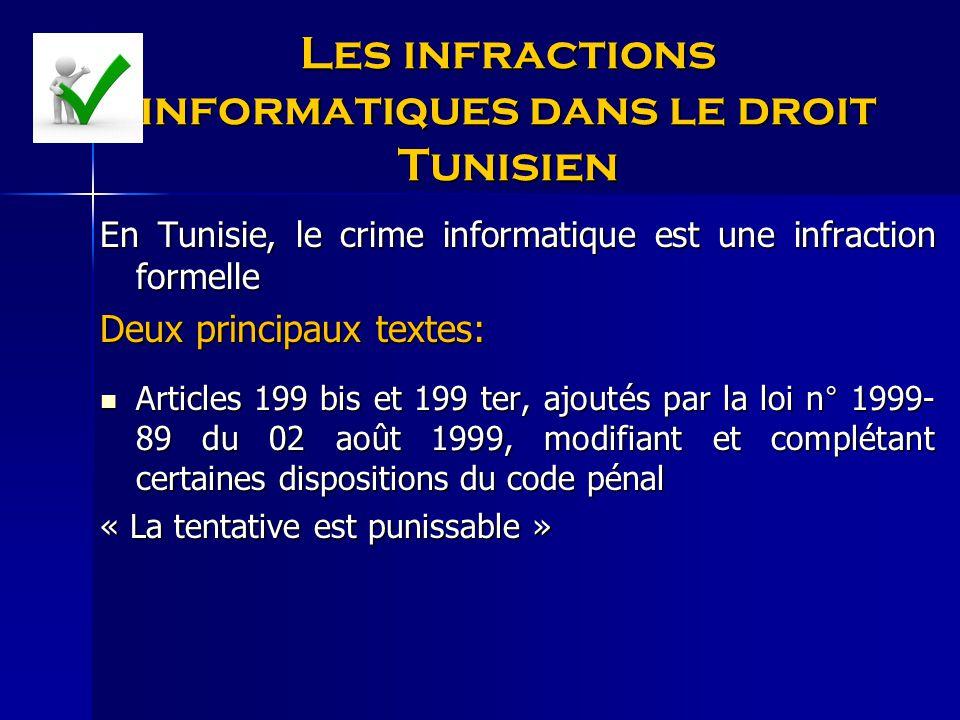 Les infractions informatiques dans le droit Tunisien