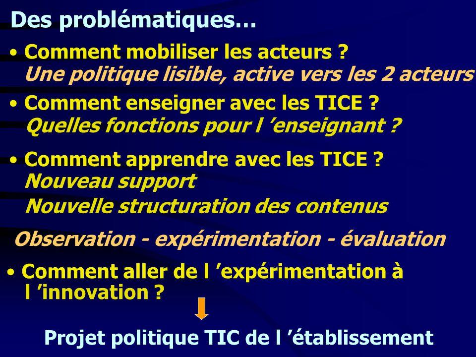 Projet politique TIC de l 'établissement