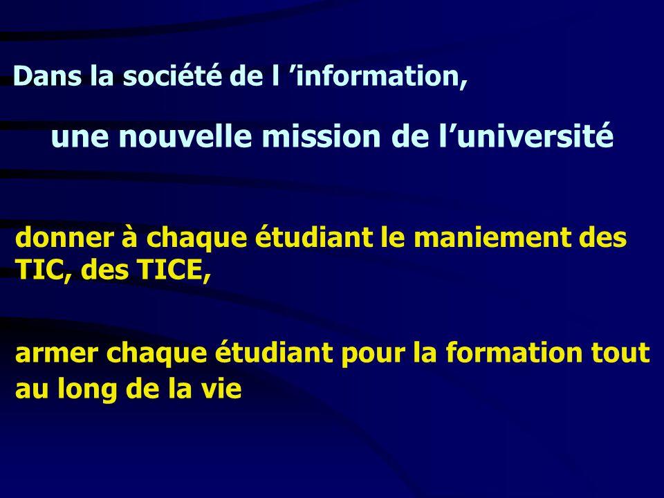 une nouvelle mission de l'université