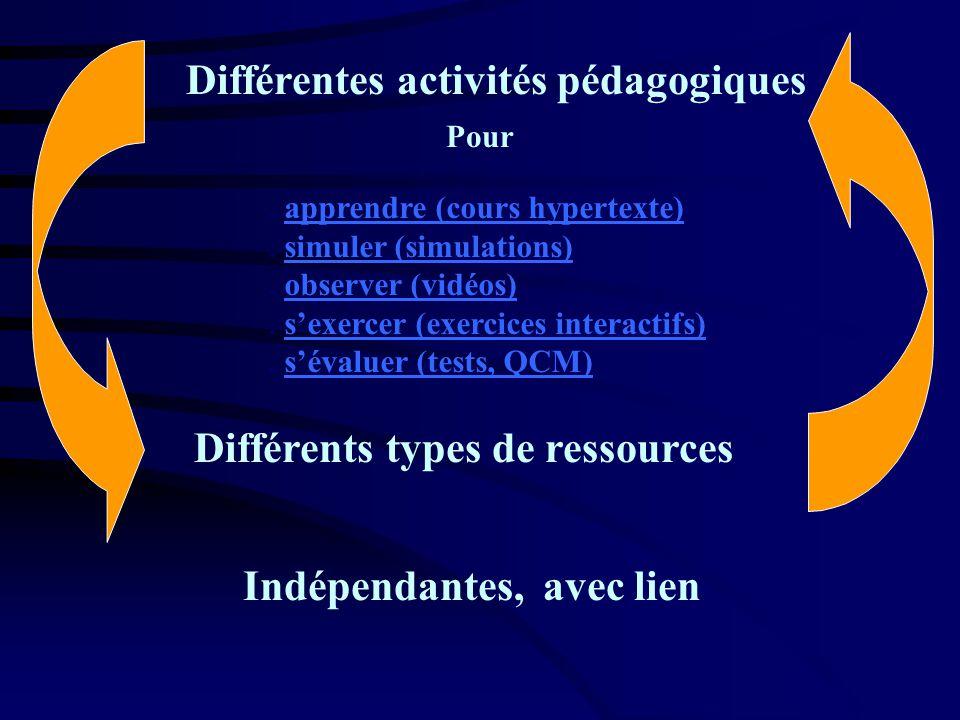 Différentes activités pédagogiques
