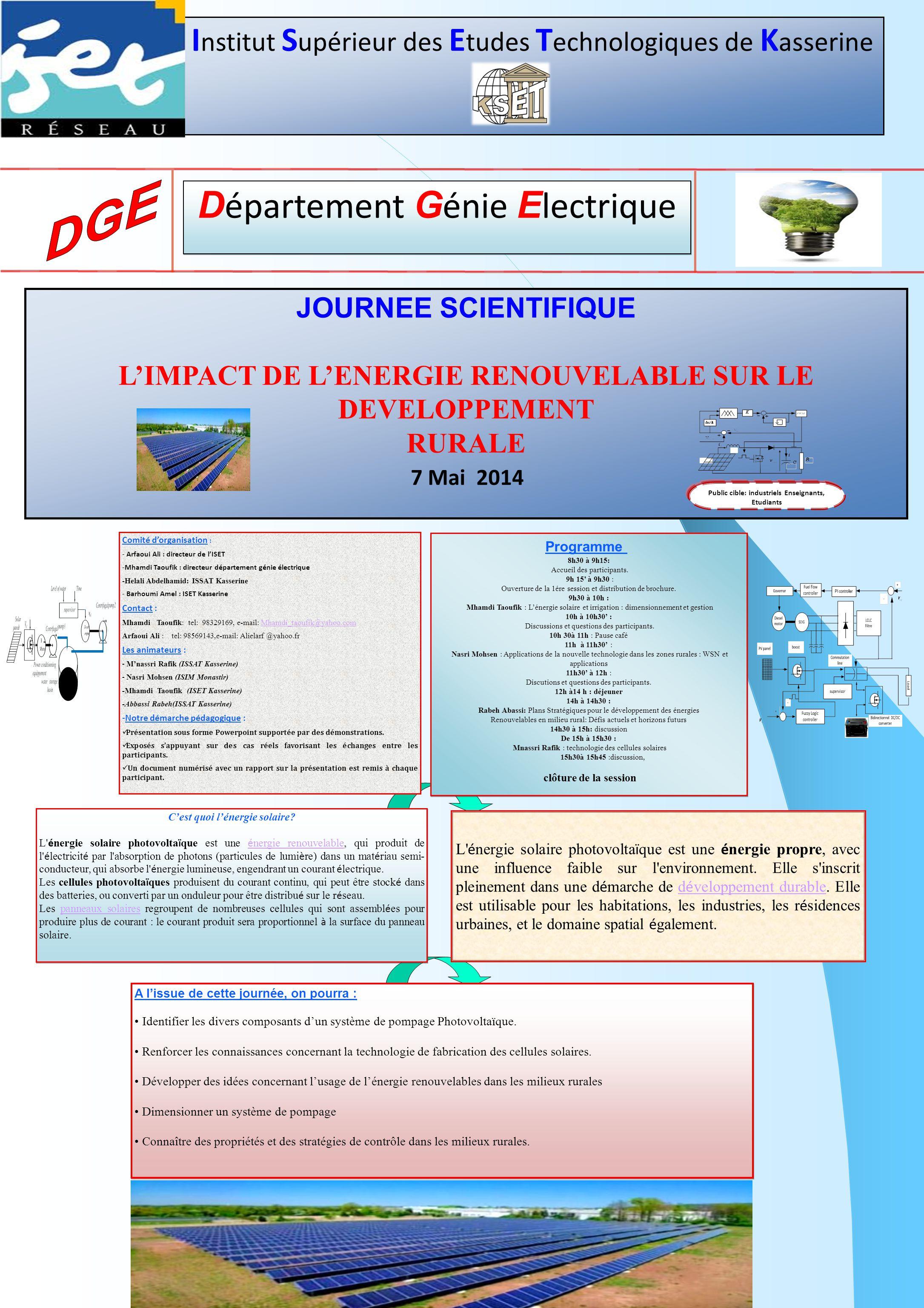 Département Génie Electrique