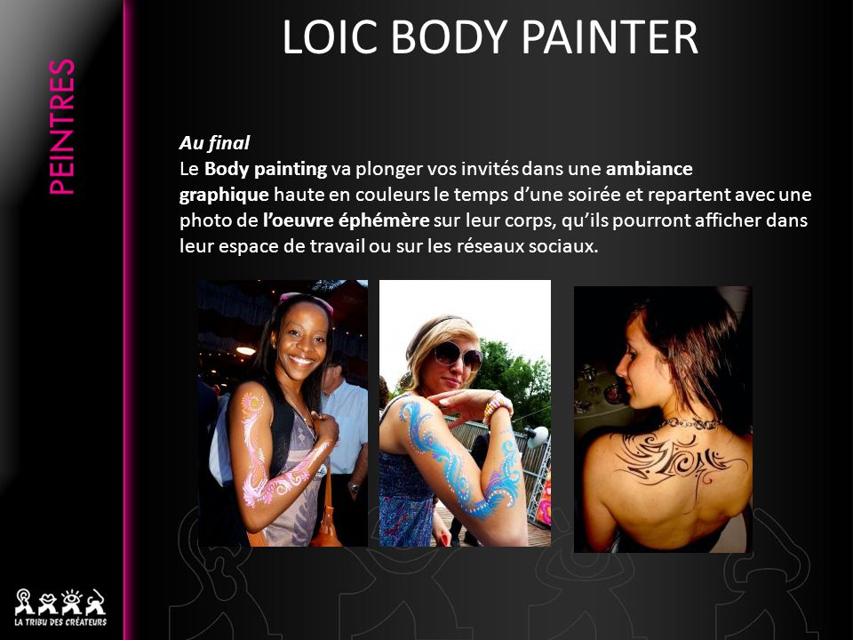 LOIC BODY PAINTER