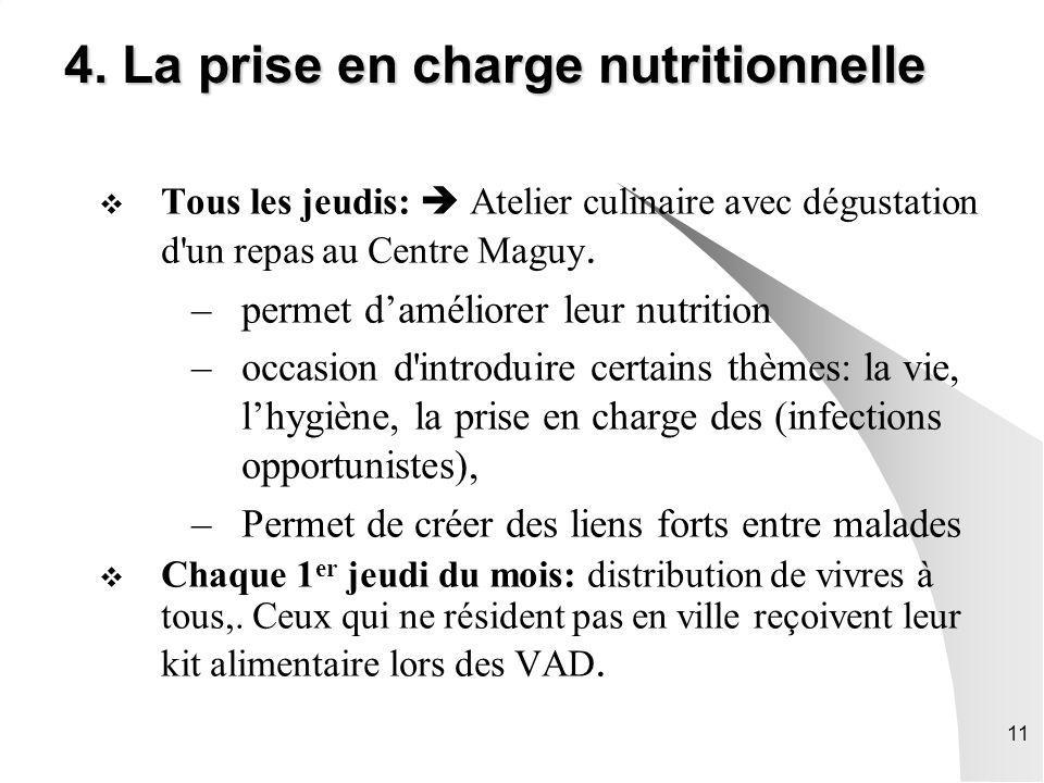 4. La prise en charge nutritionnelle