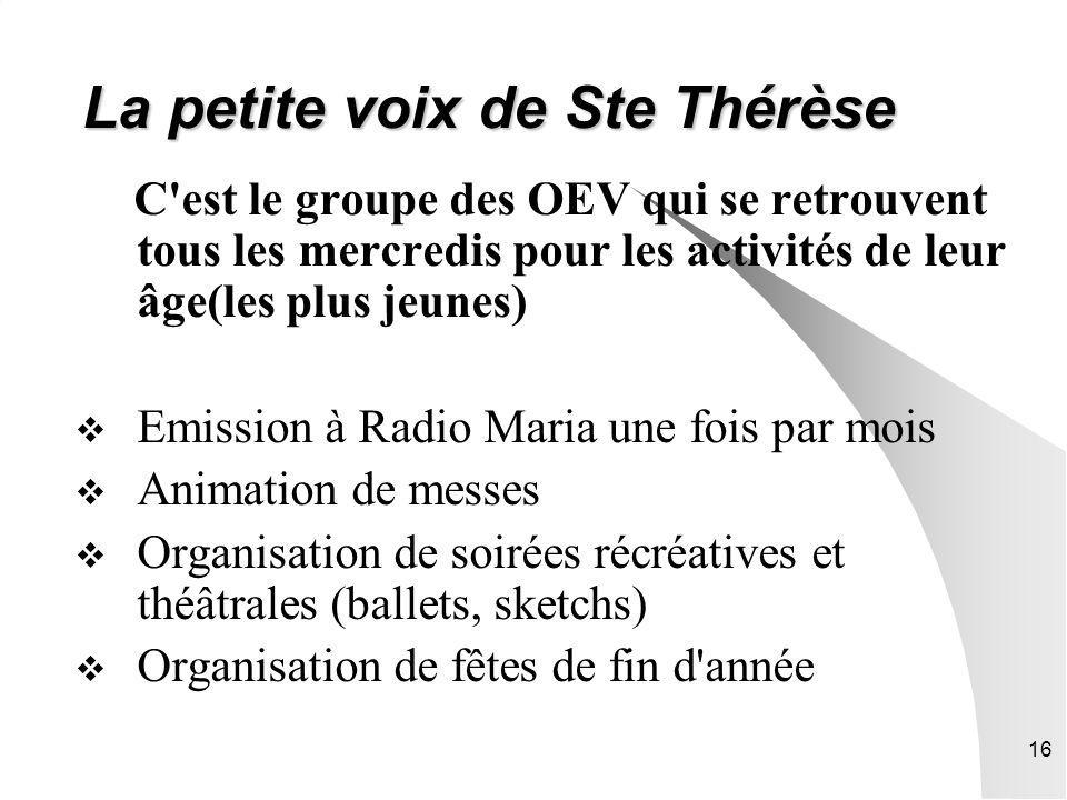 La petite voix de Ste Thérèse