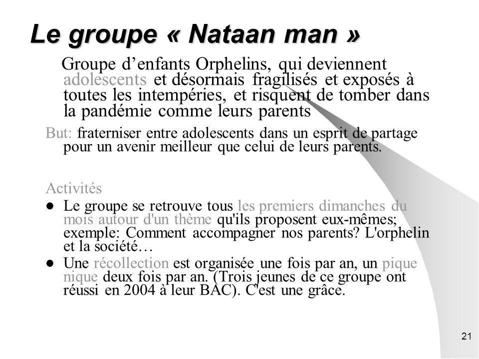 Le groupe « Nataan man »