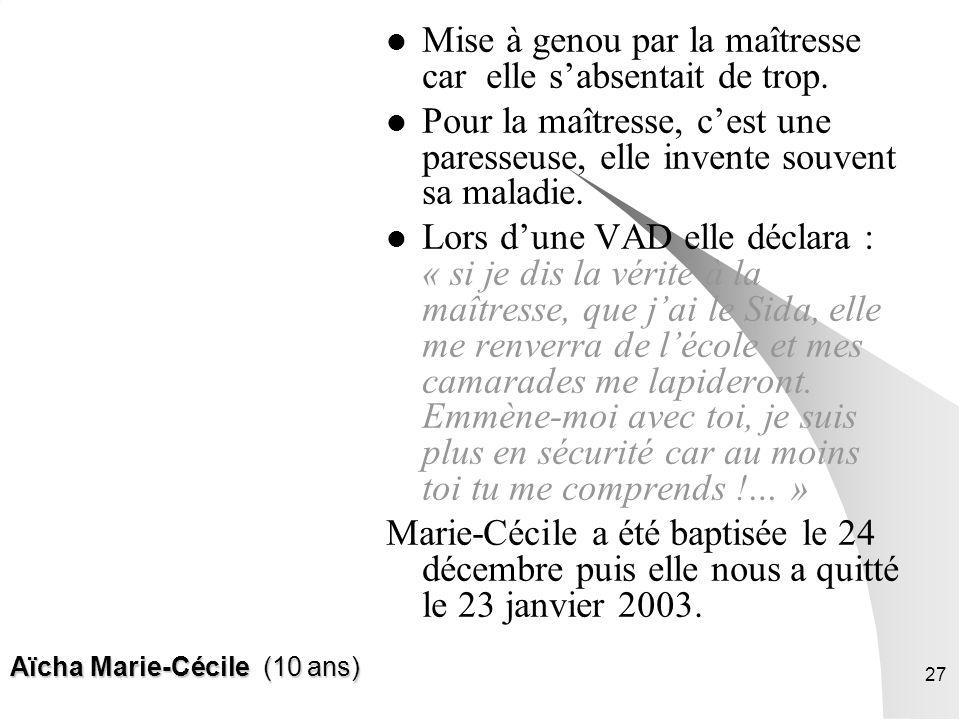 Aïcha Marie-Cécile (10 ans)