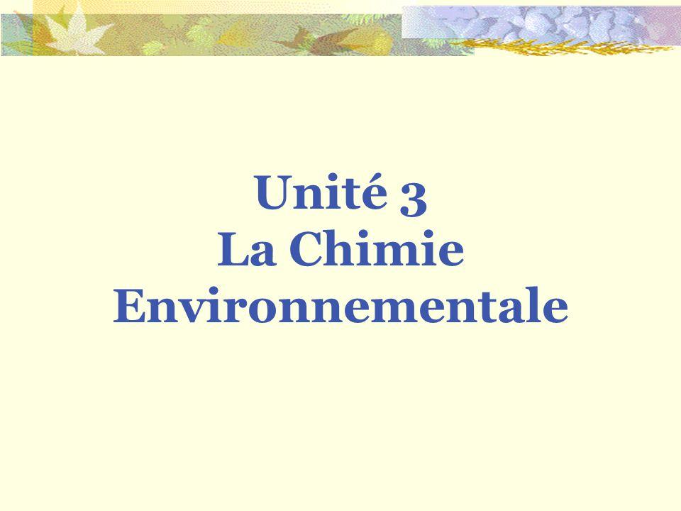 La Chimie Environnementale