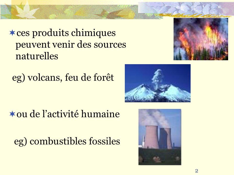 ces produits chimiques peuvent venir des sources naturelles